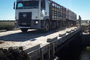 """Quedó habilitado el puente """"La Picada"""" en Feliciano"""