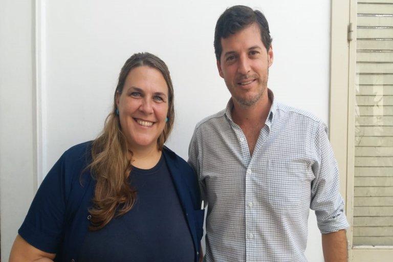 Eduardo Asueta y Cristina Guitar, dos de los referentes de Nueva Concordia