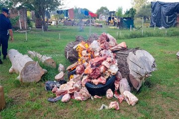 Secuestran casi doscientos kilos de carnes en diversos allanamientos