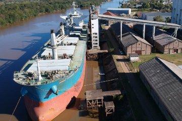 Embarcan 24 mil toneladas de arroz a granel desde puerto entrerriano