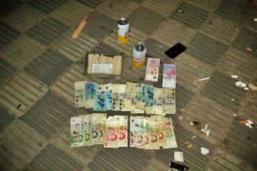 Un menor quedó detenido tras el robo al drugstore