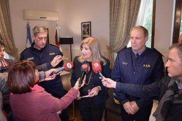 Romero y Bordet felicitaron el inmediato accionar de la policía de Entre Ríos