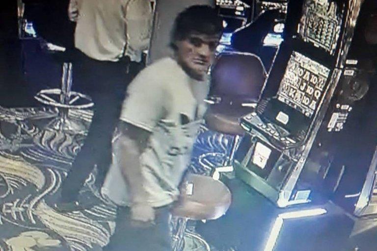 El ladrón captado por las cámaras del casino