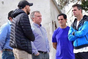 Cresto y Gómez recorrieron obras de infraestructura deportiva en Concordia