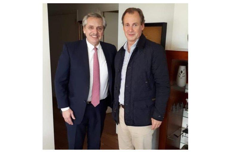 La foto compartida por Gustavo Bordet tras el encuentro
