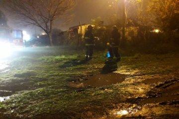 Un joven fue trasladado a Concordia con quemaduras tras el incendio de una vivienda