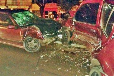 Violento choque sobre la avenida San Lorenzo