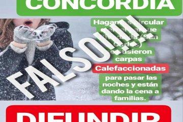 OLA POLAR: Circularon rumores falsos sobre instalación de carpas calefaccionadas en paseos públicos