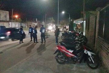 Una veintena de motos secuestradas en operativo policial