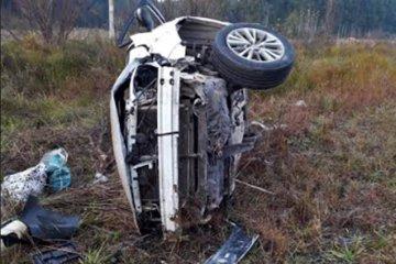 Perdió el control de su vehículo y terminó volcando sobre la Autovía