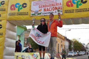 Dos concordienses fueron los ganadores de la Maratón de Gendarmería