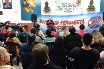 Benedetto encabezó un nuevo encuentro de formación política en la sede del PJ de Concordia
