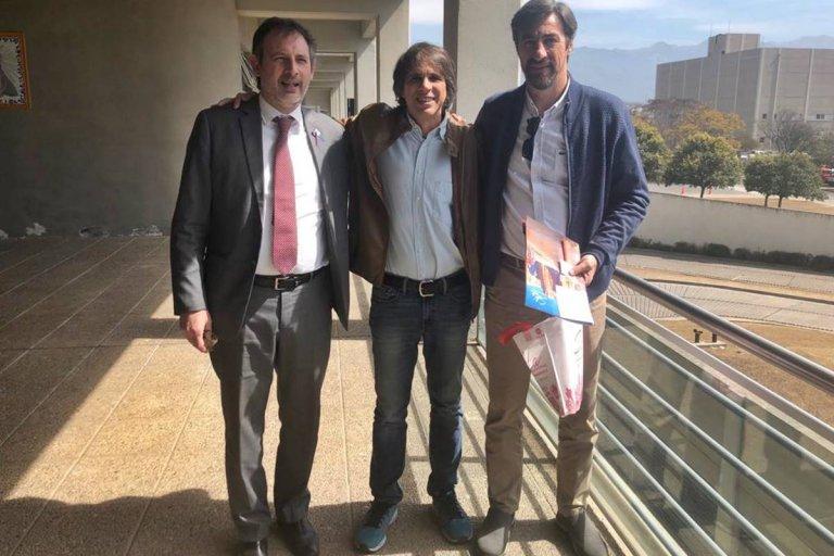 Giano con el secretario de Justicia y presidente del Consejo de la Magistratura.
