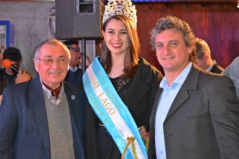 Carlos Cecco, la soberana de la fiesta y Ricardo Bravo