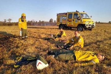 Los Bomberos Voluntarios trabajaron más de seis horas para sofocar un incendio
