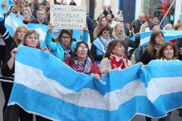 En Concordia también se marchó en respaldo a Mauricio Macri