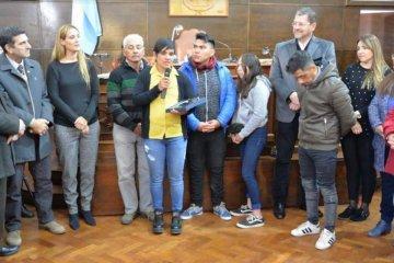 La concordiense Nancy Gallo recibió una distinción en el Concejo Deliberante