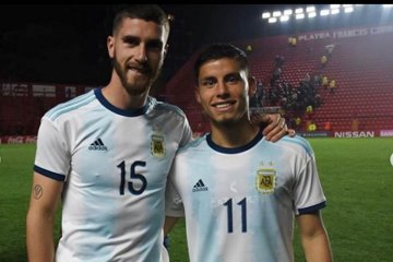 Robertone fue titular en el triunfo de la Selección Argentina Sub 23