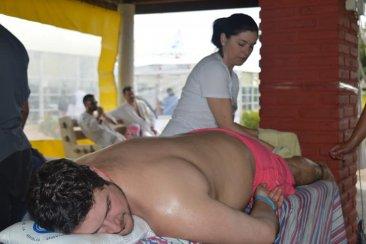 Un complejo termal entrerriano ofreció masajes gratuitos y fue un éxito