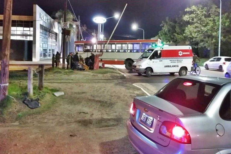 El conductor de la moto terminó en el hospital Masvernat.