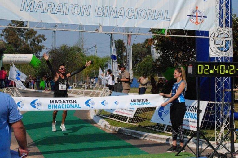 Francisco Bocanegra, ganador de los 42 kilómetros