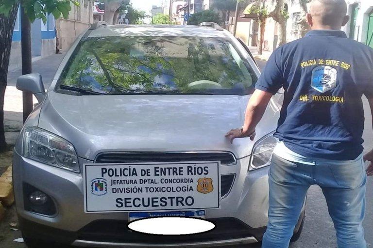 Otro vehículo incautado a la banda narco.