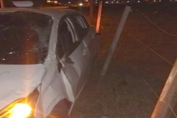 Un joven debió ser trasladado a Concordia en grave estado tras despistar con su vehículo