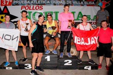 Juan Segovia y Soledad Quiñones fueron los ganaron de la 9K de Villa Elisa