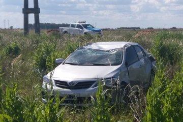 Un concordiense volcó con su vehículo en la Ruta 18
