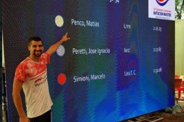 Un concordiense se consagró campeón sudamericano de natación