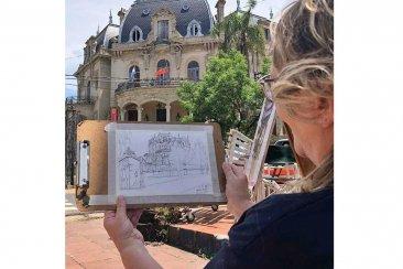 El Palacio Arruabarrena tuvo su jornada de croquis y arte