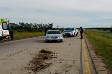 Un automóvil despistó en la autovía 14 y terminó en el carril contrario
