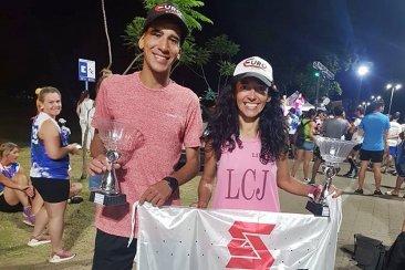 Juani Segovia y Lilian Cibrian se quedaron con la prueba atlética 10 K
