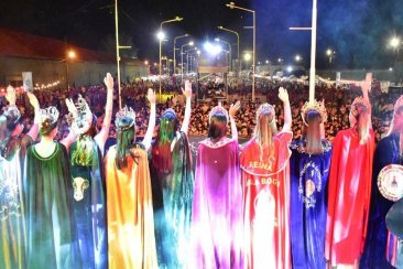 La lluvia no detuvo la última noche de la Fiesta de la Citricultura