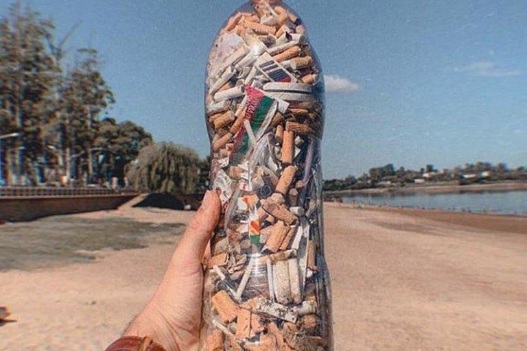 Cantidad de colillas recolectadas en un radio de 30 metros en Playa Los Sauces