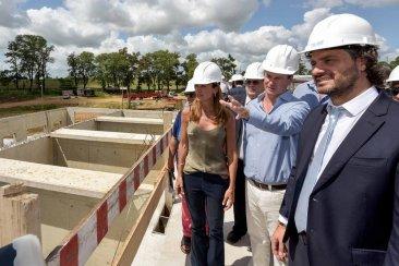 """Benedetto destacó que la nueva planta de agua de Concordia """"será uno de los legados más importantes de Bordet"""""""
