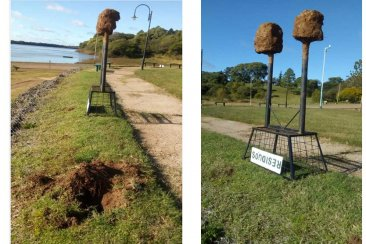 Hechos vandálicos en la costanera de una localidad del departamento Concordia