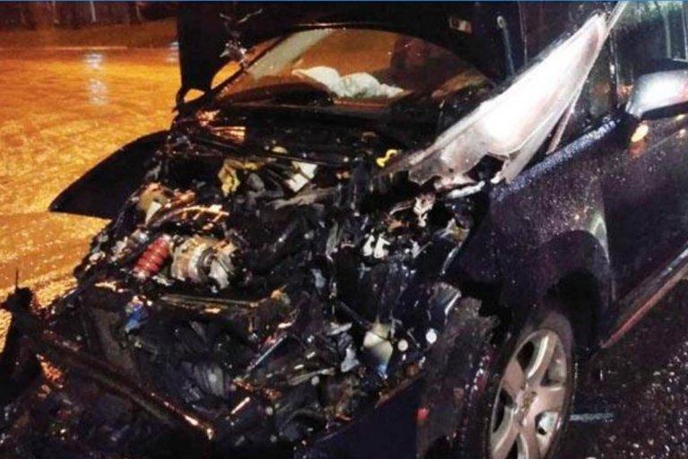 Así quedó el vehículo tras el impacto