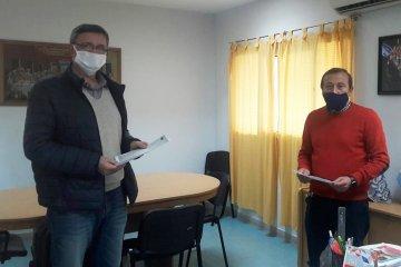 Loggio entregó un aporte económico al Masvernat para contribuir a la prevención del coronavirus