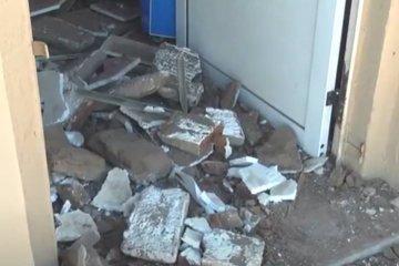 VIDEO: Así quedó una carnicería tras desplomarse el cielorraso