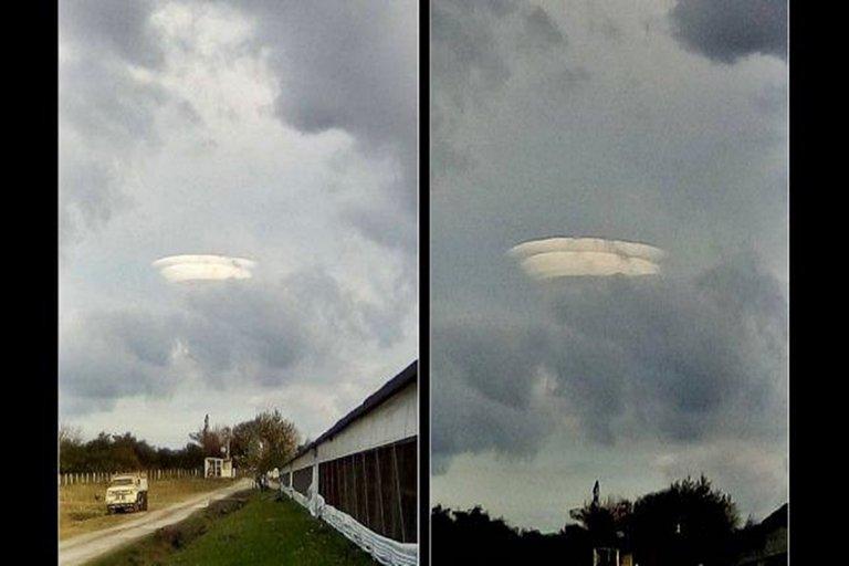 Una formación de nubes muy extraña sobre el cielo entrerriano.