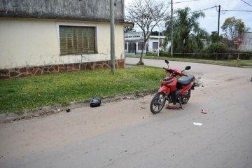 Un motociclista fue derivado a Concordia con traumatismo de cráneo