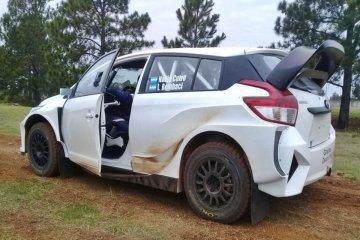 Nadia Cutro probó su nuevo auto para la máxima categoría del rally argentino