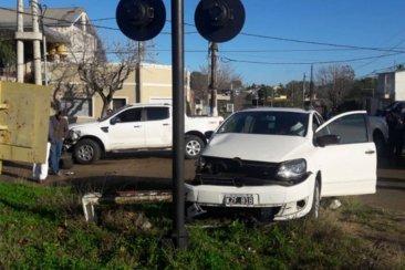 Un hombre fue trasladado al Masvernat tras un fuerte impacto entre dos vehículos