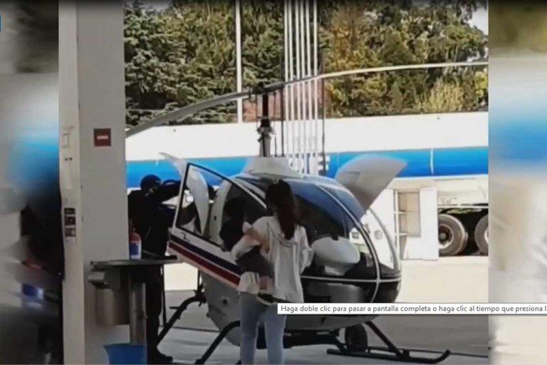 La aeronave cargó combustible y luego levantó vuelo.