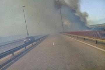 Volvieron los incendios de pastizales y trajeron complicaciones en el tránsito vehicular