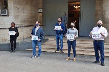 Comerciantes concordienses se reunieron frente al municipio por un pedido colectivo de consciencia