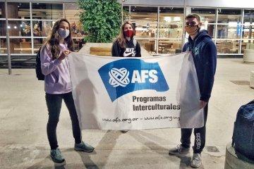 Cuatro estudiantes concordienses partieron hacia diferentes países en un intercambio escolar