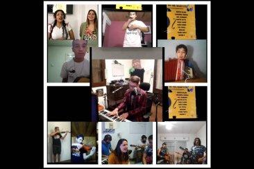 Los jóvenes celebraron el Día de la Música en forma virtual