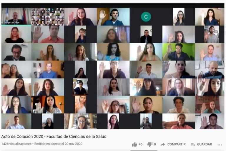 La Facultad de Ciencias de la Salud de UNER realizó los Actos de Colación Virtual de Grado y Posgrado 2020